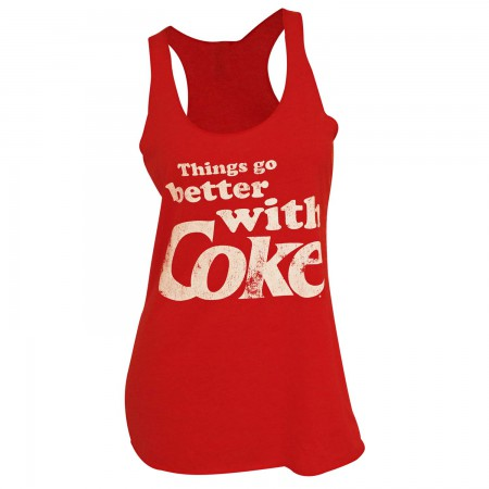 Coca-Cola Women's Red Things Go Better With Coke Tank Top