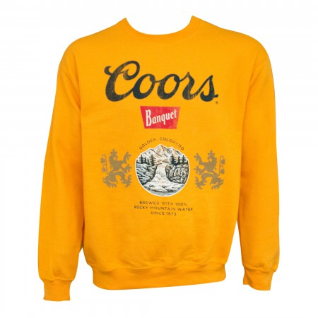 Coors Banquet Men's Crewneck Golden Sweatshirt