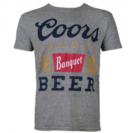 Coors Banquet Beer Gray Men's Tee Shirt