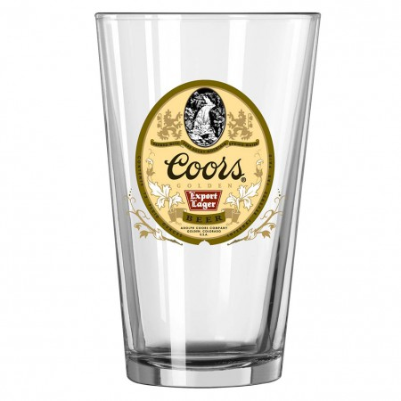 Coors Lager Pint Glass