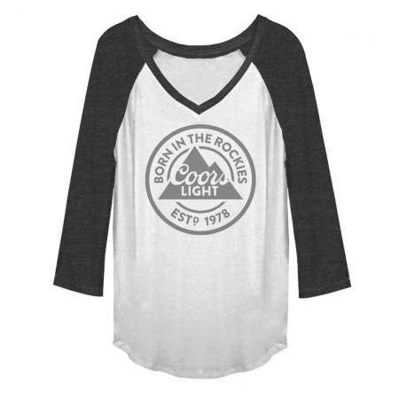 Coors Light Born In The Rockies Women's Grey T-Shirt