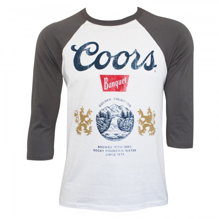 Coors Banquet Men's White Baseball Sleeve T-Shirt