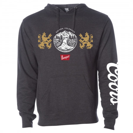 Coors Beer Banquet Waterfalls Dark Grey Hoodie