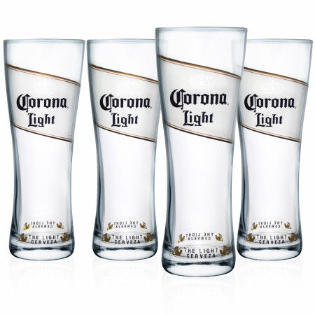 Corona Light Oslo 4-Pack Pint Glass Set