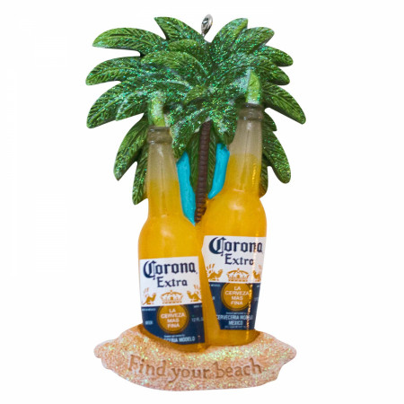 Corona Extra Lime Bottle Beach Ornament