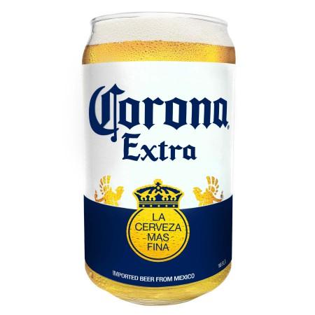 Corona Extra Bottle Label Pint Glass