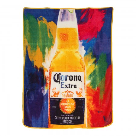 Corona Extra Flashback 40x60 Fleece Throw Blanket