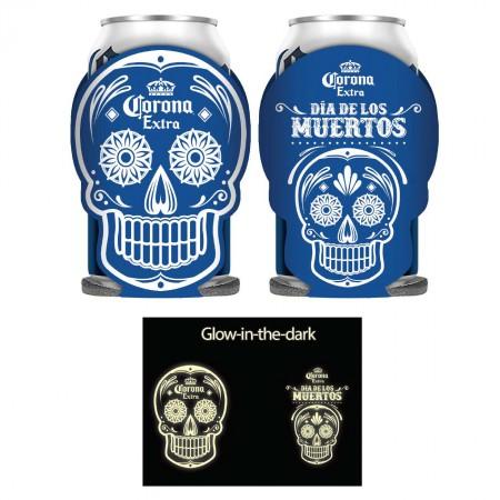 Corona Dia De Los Muertos Glow In The Dark Can Cooler