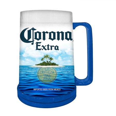 Corona Beach Freezable Plastic Beer Stein 16 Ounces