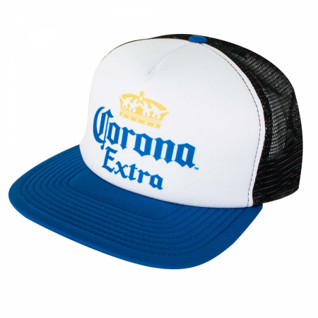 Corona Blue and White Trucker Hat