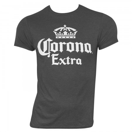 Corona Extra Men's Grey Classic Label T-Shirt