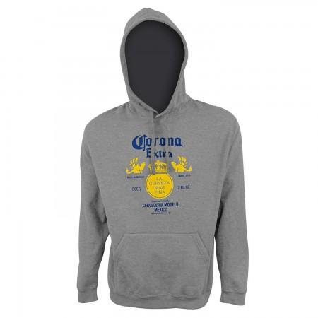 Corona Extra Logo Men's Gray Hoodie