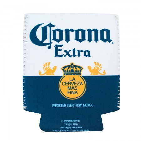 Corona Extra Bottle Label Can Cooler