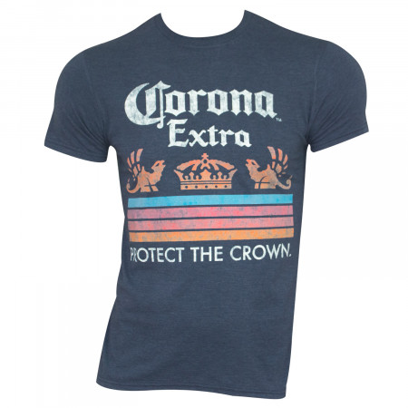 Corona Extra Men's Blue Protect The Crown T-Shirt