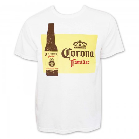 Corona Beer Familiar Men's White T-Shirt