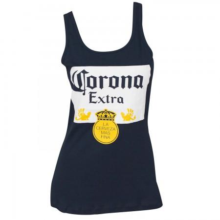 Women's Corona Beer Label Blue Tank Top