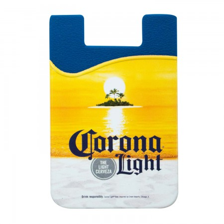 Corona Light Cellphone Rubber Sticky Mount Wallet
