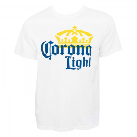 Corona Light Men's White Large Logo T-Shirt