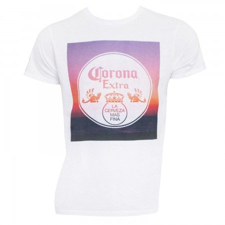 Corona Extra Men's White Sunset T-Shirt