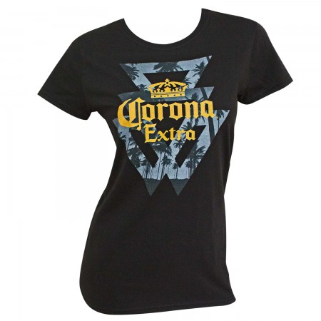 Corona Extra Triangle Palms Women's Tshirt