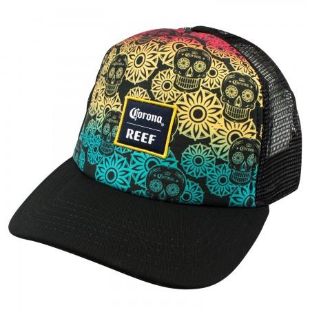 Corona Reef Sugar Skull Rainbow Mesh Hat