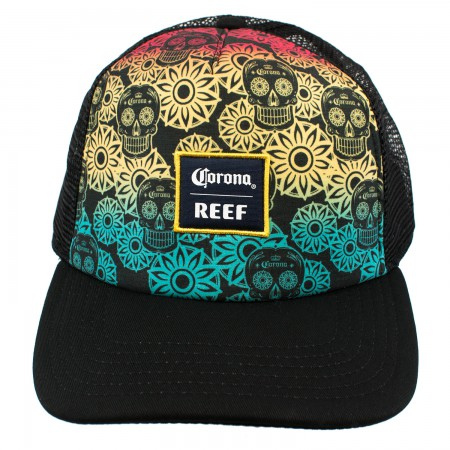 Corona Reef Rainbow Sugar Skull Trucker Hat