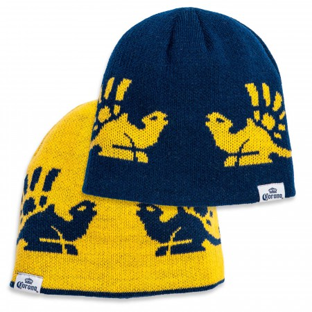Corona Beer Reversible Winter Beanie