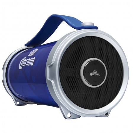 Corona Indoor/Outdoor Blue Portable Bluetooth Speaker