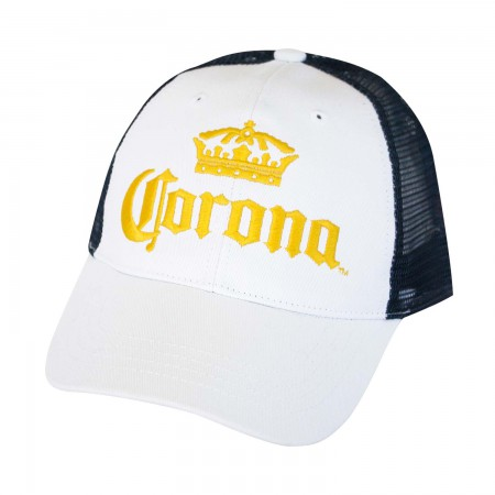 Corona Mesh White Trucker Hat