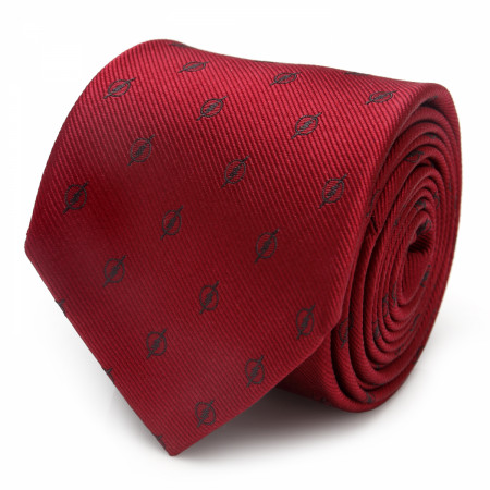 The Flash Maroon Jacquard Men's Silk Tie