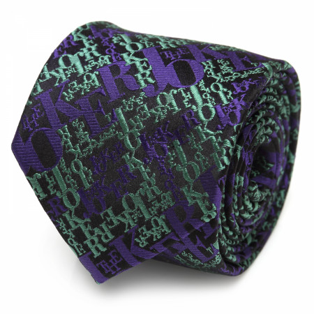The Joker Text Logo Silk Tie