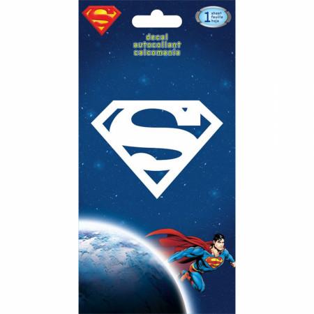 Superman Symbol White Decal Sticker