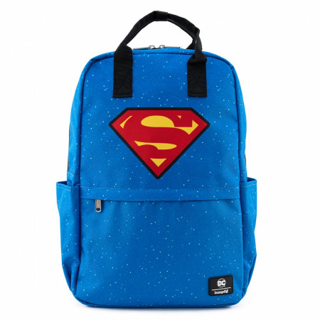 Superman Shield and Stars Nylon Backpack by Loungefly