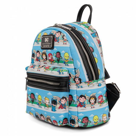 DC Comics Justice League Superheroes Lineup Mini Backpack by Loungefly