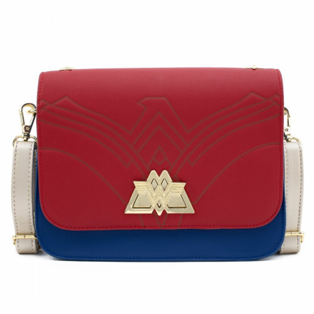 Wonder Woman Lasso Strap Crossbody Bag with Swivel Lock by Loungefly