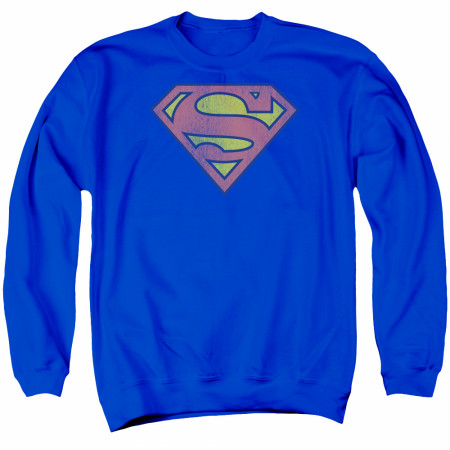 Superman Faded Logo Classic Crewneck Sweatshirt