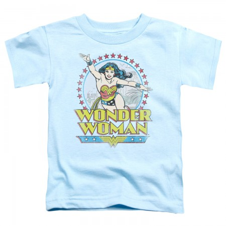 Wonder Woman Star Of Paradise Toddlers T-Shirt