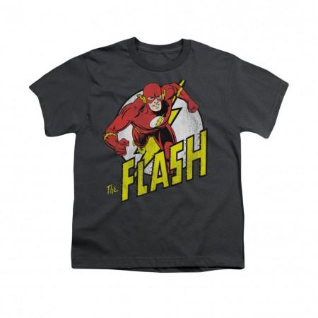 The Flash Run Gray Youth Unisex T-Shirt