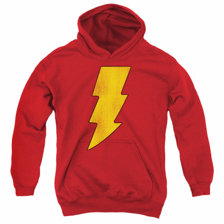 Shazam Distressed Symbol Youth Hoodie