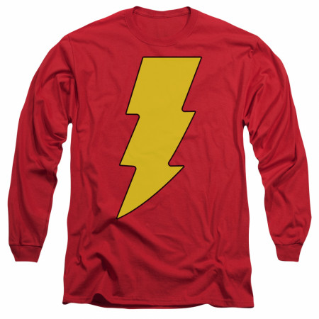 Shazam Symbol Long Sleeve T-Shirt