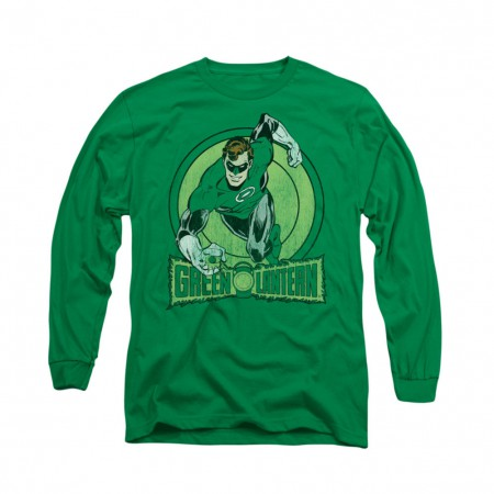 Green Lantern Circle Green Long Sleeve T-Shirt
