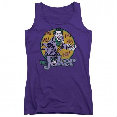 Batman The Joker Purple Juniors Tank Top