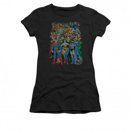 DC Comics Original Universe Black Juniors T-Shirt