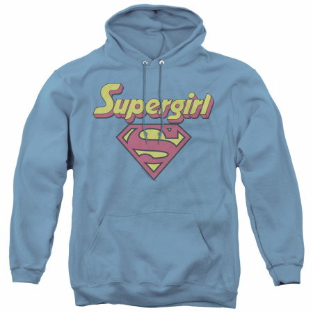 Supergirl Retro Logo Women's Blue Hoodie