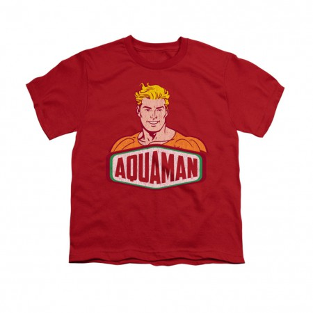 Aquaman Sign Red Youth Unisex T-Shirt