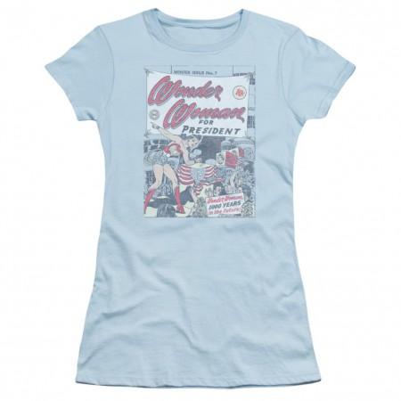 Wonder Woman For President Women's Blue Tshirt