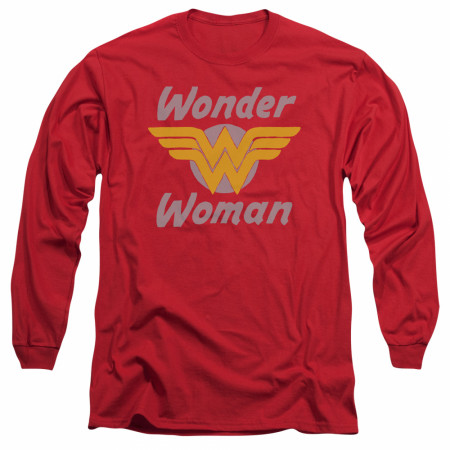 Wonder Woman Wings Logo Long Sleeve Shirt
