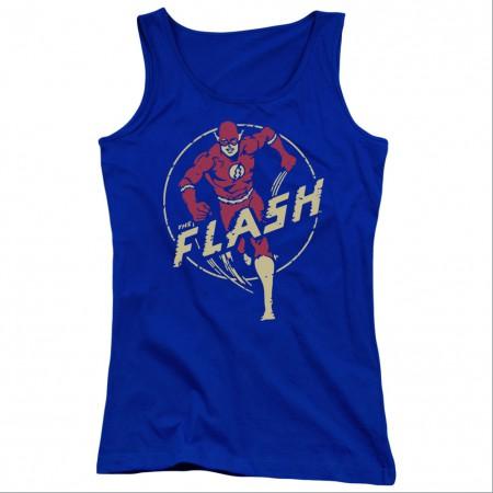 The Flash Comics Blue Juniors Tank Top