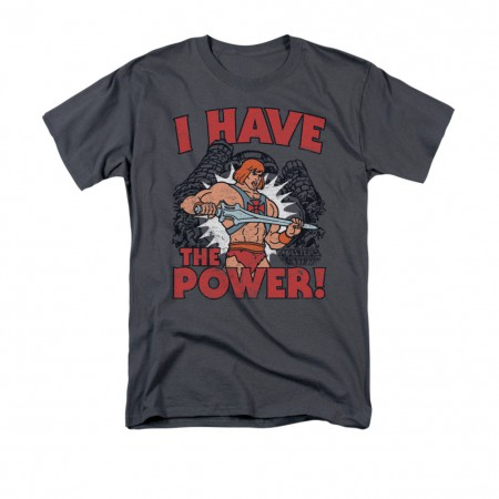 He-Man Men's Gray I Have The Power T-Shirt