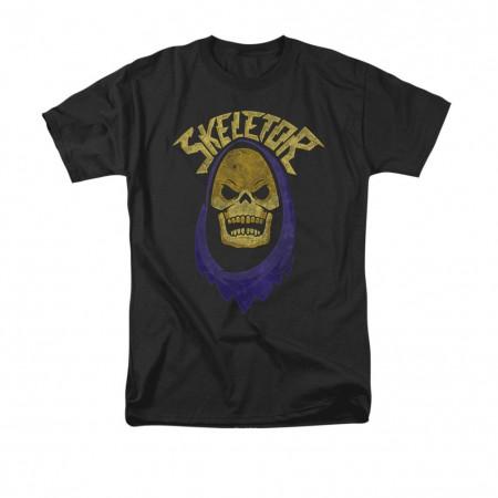 He-Man Men's Black Skeletor Hood T-Shirt
